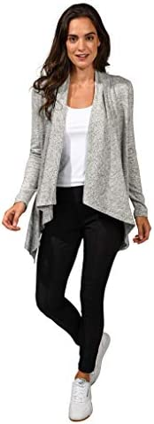 90 Degree By Reflex Ultra Soft Hacci Draped Open Cardigan Sweater