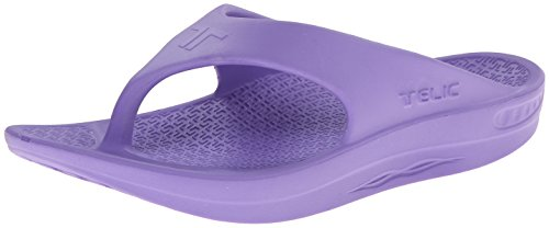 - Flip Flop Soft Sandal Shoe Footwear by Telic, Grape Vine, S