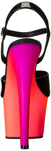 Pleaser Rainbow-309uv - Sandalias Mujer Mehrfarbig (Mehrfarbig (Blk Pat/Neon Multi))