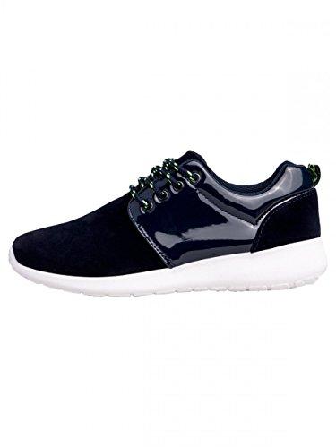CASPAR Womens SSN001 Sneakers Dark Blue 0vQbC