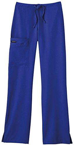 Classic Fit Collection By Jockey Women's Tri Blend Zipper Scrub Pants Large Galaxy Blue