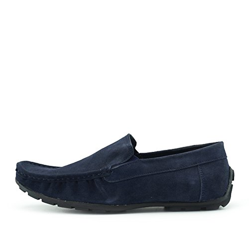 Kick Footwear Moccasins Leather Suede Shoes Casual Driving Shoes for Men Navy 33G93