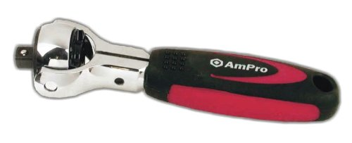 Ampro T19001 3/8-Inch Drive Stubby Spinner Ratchet