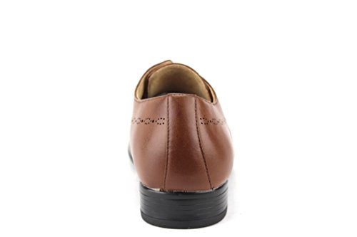 Oxfords Cognac Perforated Majestic Detail Mens Casual Shoes Derby Dress 19591 Dress q6qwfrv0