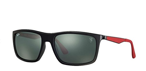 Ray-Ban Men's 0rb4228mf6017158plastic Man Rectangular Sunglasses, Black, 58 - Ban Ray Ferrari