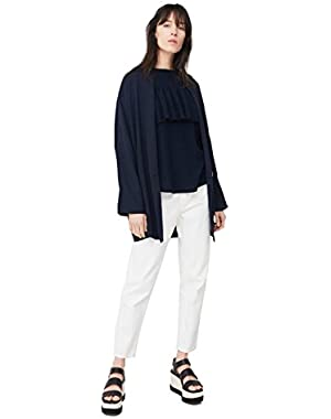 Mango Women's Off Shoulders T-Shirt