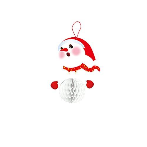 (Iusun Christmas Tree Decorations Flag Deer Reindeer Santa Elk Pull Flag Hanging Xmas Tree Pendants DIY Ornament Wedding Party Holiday New Year Decor (B))