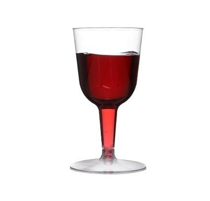 Elegante Mini Copas de Vino de plástico, 70 ML, Juego de 20