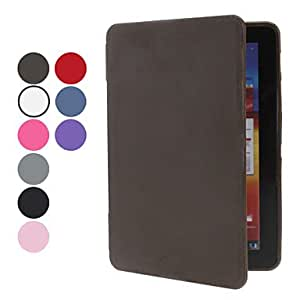 DUR Solid Color PU Leather Full Body Case for Samsung Galaxy Tab Plus 7.7 P6800 (Assorted Colors) , Gray