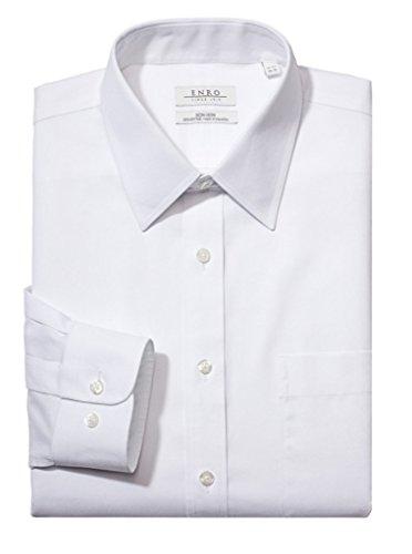 Enro Non-Iron Regular Collar Solid Color Dress Shirt (2-Pack)