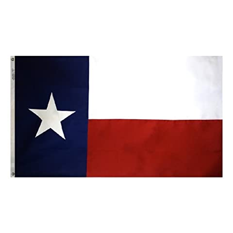 Annin Flagmakers 5-Feet by 8-Feet Tough-Tex Texas State Flag - Tex Texas Flag