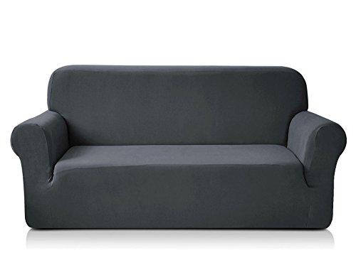 Chun Yi 1-Piece Knit Fabric Slipcover for Sofa - Grey