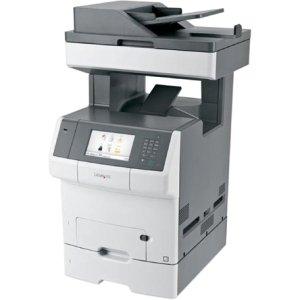 Lexmark X740 X748DTE Laser Multifunction Printer - Color - Plain Paper Print - Desktop - Copier/Fax/Printer/Scanner - 35 ppm Mono/35 ppm Color Print - 2400 x 1200 dpi Print - 35 cpm Mono/35 cpm Color Copy - Touchscreen - 600 dpi Optical Scan - Automatic D