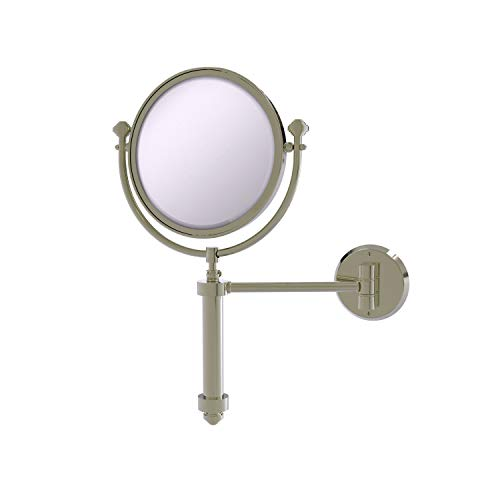 Allied Brass SB-4/4X Southbeach Collection Wall Mounted 8 Inch Diameter with 4X Magnification Make-Up Mirror, Polished…