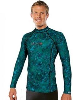 Henderson Lycra Green Camo Long Sleeve Free Dive Rash Guard (X-Large)