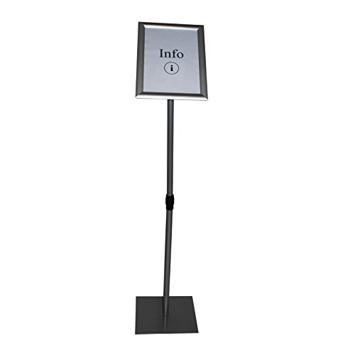 Präsentationsständer Infoständer Menüständer 4-eckiger Fußplatte DIN A4