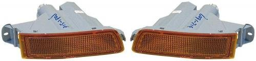 Go-Parts PAIR/SET OE Replacement for 1995-1997 Toyota Avalon Front Signal Lights Assemblies/Lens Cover - Left & Right (Driver & Passenger) For Toyota Avalon