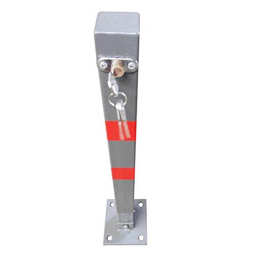 Fetcoi Parkeerpalen, inklapbare afsluitpalen, vergrendelingspalen, staal, 65 cm, vanaf parkeerplaats, oprit