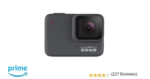 GoPro HERO7 Silver - Cámara de acción (sumergible hasta 10m, pantalla táctil, vídeo 4K HD, fotos de 10 MP), color gris
