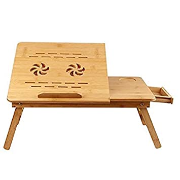 Smart Homez Bamboo Multi Purpose Laptop Table with Two
