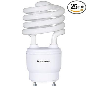 Overdrive 192 18W/ODT2SGU/41K 18W, 4100K Bulb with T2 Super Mini Spiral GU24 Base (25 Pack), Piece - - Amazon.com