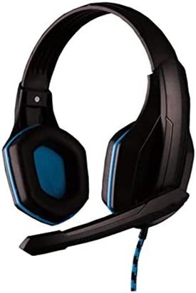 RENKUNDE ブラックゲーミングヘッドセットヘッドフォンデュアルオーディオサウンドをクリア快適な通気性を着用してください ゲーミングヘッドセット