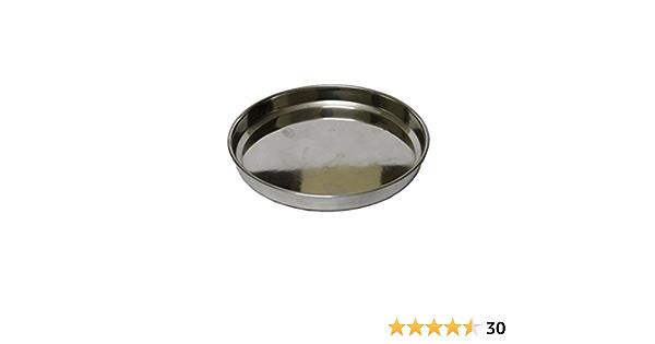 Stainless Steel Dinner Plate Dinner Thali Diameter 10Inch Silver Set Of 2//3//4//6