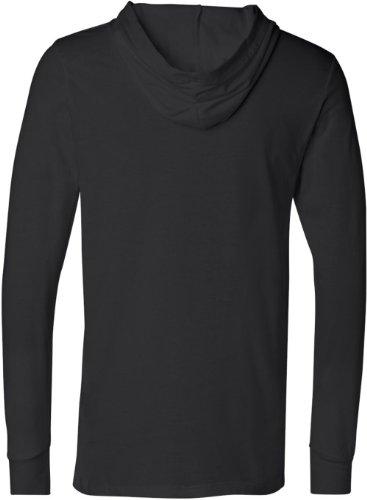 T unisexe noir shirt jersey en capuche à manches longues qxnOrqF4wA