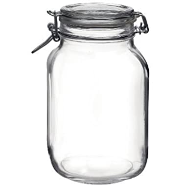 Bormioli Rocco Fido Round Clear Jar, 67.75-Ounce