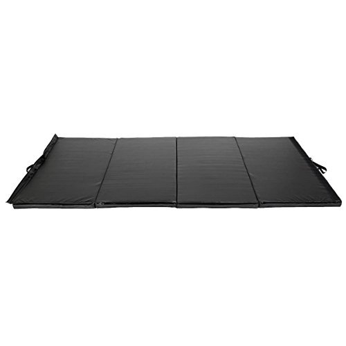 Generic Black 4'x10'x2'' Thick Folding Panel Gymnastics Mat Gym Fitness Exercise Mat by Generic