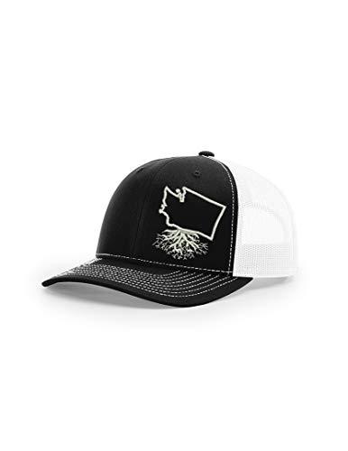 Wear Your Roots Washington Snapback Trucker Hat, Black, One Size - Adjustable
