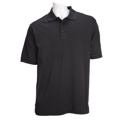5.11 Tactical Tactical Short-Sleeve Polo, Black, (5.11 Tactical Cotton Uniform)