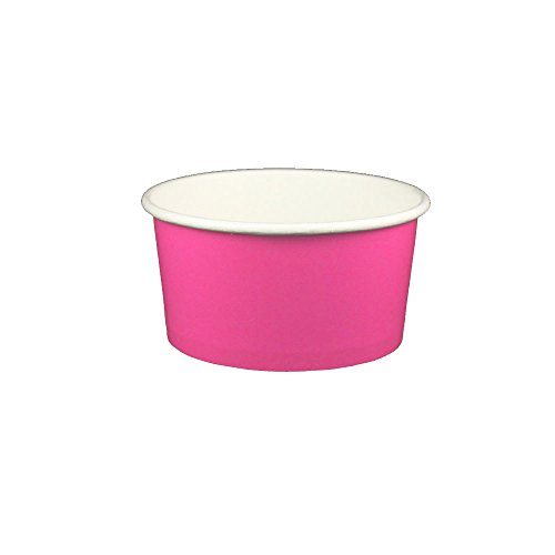 - Yocup 6 oz. Solid Pink Paper Ice Cream / Frozen Dessert Cup - 50 ct