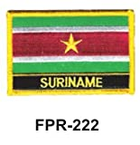 2-1/2'' X 3-1/2'' Flag Embroidered Patch Suriname