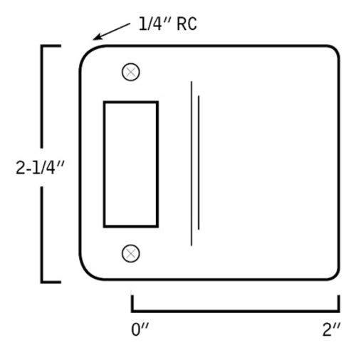 Don-Jo 9102630RC 2 Extended Lip Round Corner Full Lip 2-1//4 Strike Satin Stainless Steel Finish
