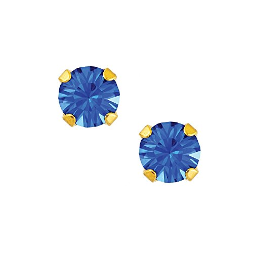(Studex Sensitive Mini 3mm September Sapphire Gold Plated Claw Set Stud Earrings)
