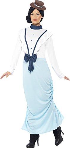 Victorian Lady Fancy Dress Costumes (Smiffy's Women's Posh Victorian Lady Costume, Multi, Medium)