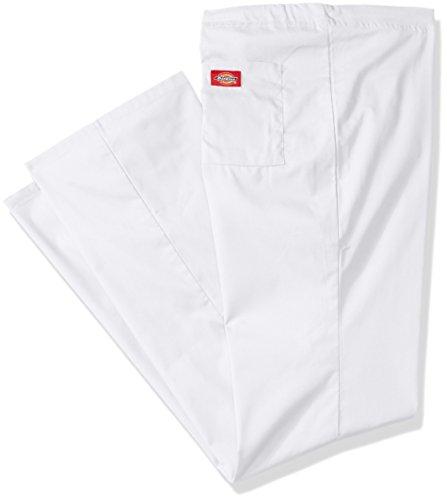 Dickies Mens Big And Tall Eds Signature Unisex Drawstring Scrub Pant  White  Xx Large Tall