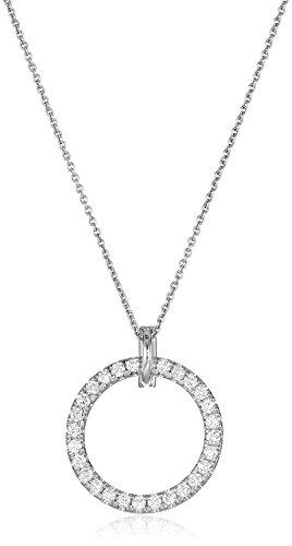 Roberto Coin Small Diamond Circle Necklace, White, One Size