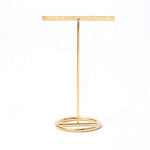 Jitejoe Metal Plating Necklace Holder Jewelry Stand Display Stand Jewelry Frame Earrings Bracelet Bracelet Earrings Divided Jewelry Stand (Large (Flat)) - Tree Jewelry Twig