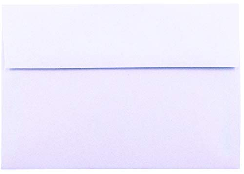 - Light Orchid Purple Pastel 50 Boxed A6 (4-3/4 x 6-1/2) Envelopes for 4-1/2 x 6-1/4 Greeting Cards Invitations Birth Announcements Showers from The Envelope Gallery