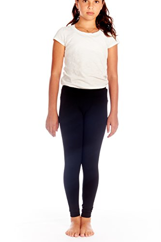 Crush Girls Seamless Solid Color Leggings Pants Size 7 - 14 Black