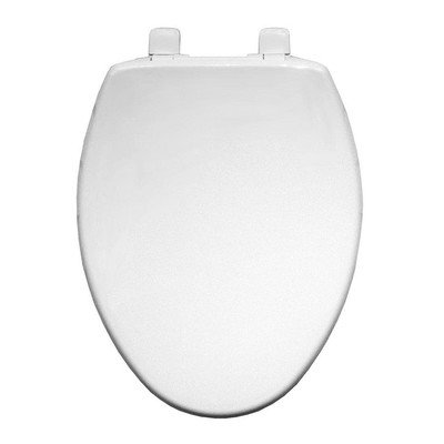 Whisper Close Hinges - Bemis 7300SL 000 Hospitality Elongated Front Plastic w/Whisper Close Hinges-White