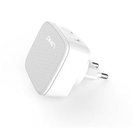 Ldnio® Blanco 2 Pin EU Cargador 2.4 Amp Dual Adaptador Cargador ...