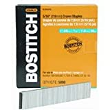 BOSTITCH SL50351G 1-by-5/16-Inch 18-Gauge Staples, 5000-Per Box
