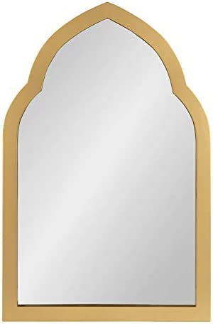 MCS 24×36 Inch Wedge Rectangular Wall Mirror, 30×42 Inch Overall Size, Brushed Pewter 20678