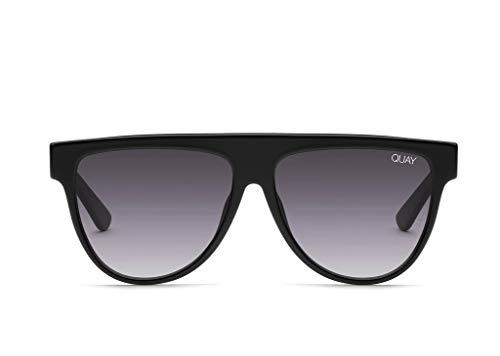 Quay Women's Last Night Sunglasses, Black/Smoke Fade Lens, One Size