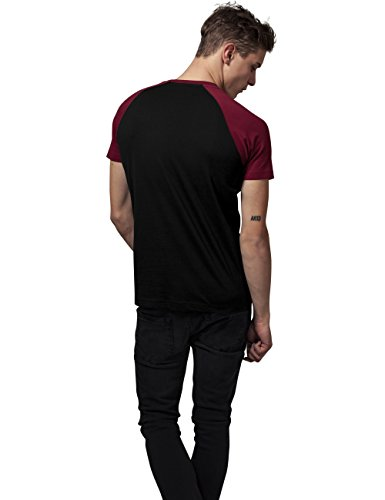 Tee blk burgundy T Mehrfarbig 651 Classics Uomo shirt Raglan Contrast Urban qBxPtCAwC