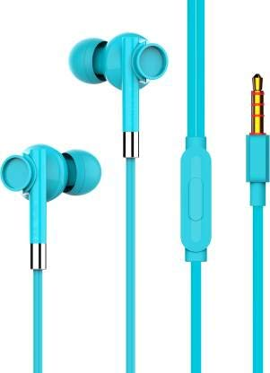 SuperBass Wired Headset Colorful Music Earphone in Ear Headphones with Microphone  Yellow, Pack of 1