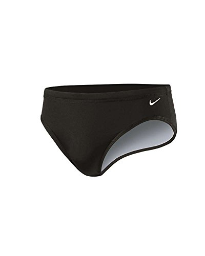 Nike Swim NESS4030 Mens Poly Core Solid Brief, Black-32